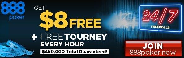 888 Free Cash Poker Bonus