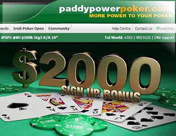 Paddy Poker Deposit Bonus