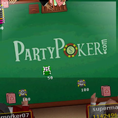 Party Poker Software Table