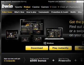 Bwin Poker $500 Bonus