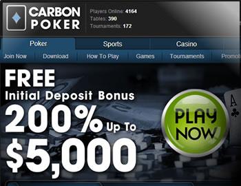 Carbon Poker $5000 Bonus