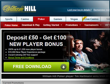 William Hill $2000 Bonus