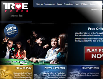 True Poker Deposit Bonus